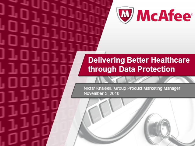 Delivering Better Healthcare through Data Protection