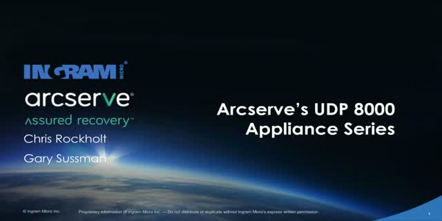 Arcserve's New UDP 8000 Appliance Series