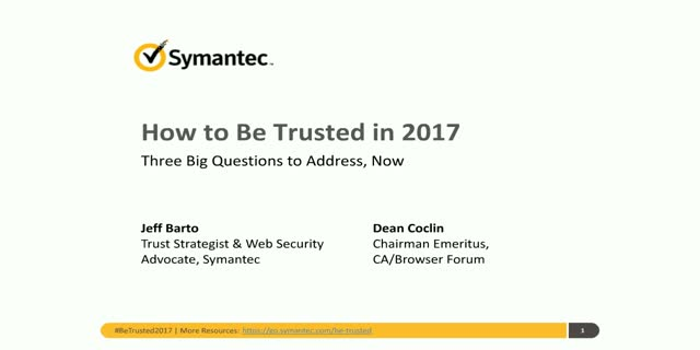 Google Security Alert:  How to Be Trusted in 2017 (NAM & EMEA)