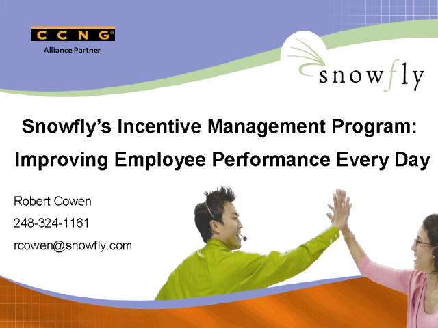 Introducing CCNG partner - Snowfly