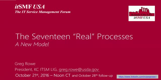 The Seventeen Real Processes