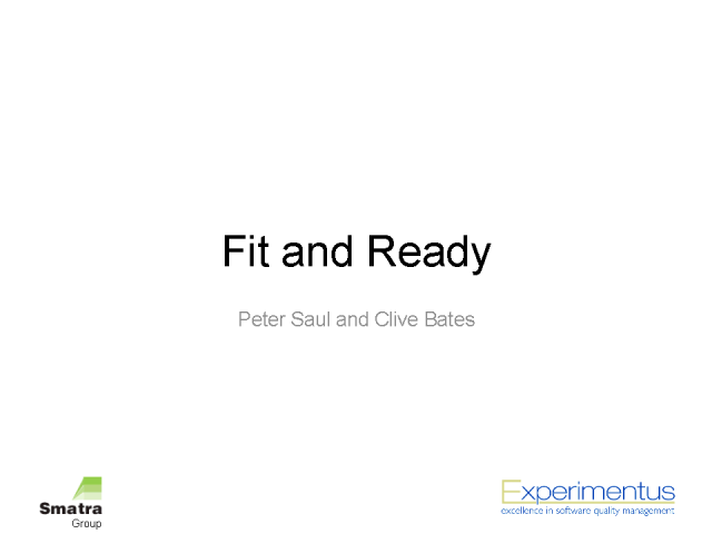 Fit and Ready: Testing Activities of an Application Lifecycle