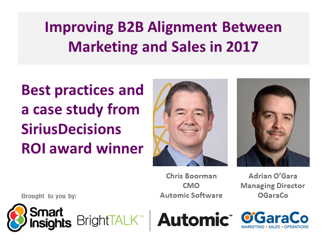 Improving Alignment Between B2B Marketing and Sales in 2017