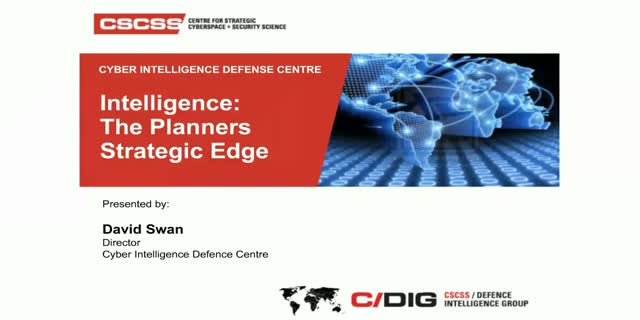 Intelligence: The Planners Strategic Edge