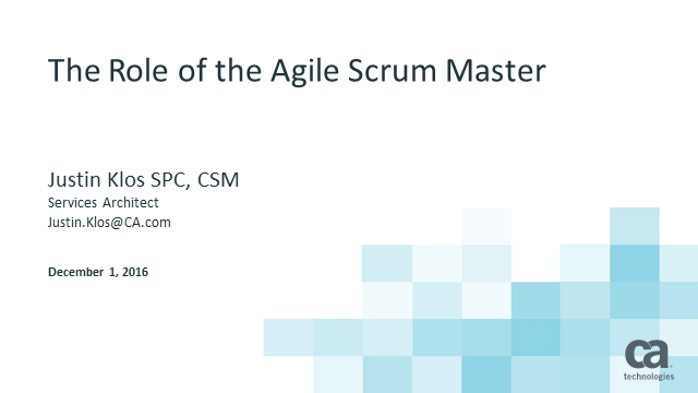 The Role of the Agile Scrum Master