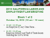 2010 California Labor & Employment Law Briefing - Block 1 of 2