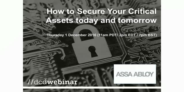 How to Secure Your Critical Assets today and tomorrow