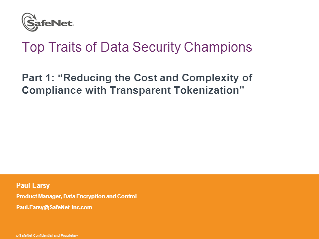 Top Traits of Data Security Champions, Part 1: Tokenization