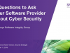 5 Questions to Ask Your Software Provider About Cybersecurity