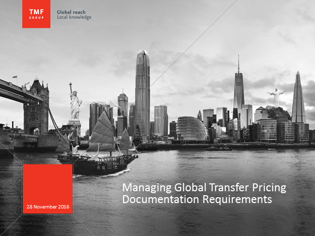 Managing Global Transfer Pricing Documentation Requirements