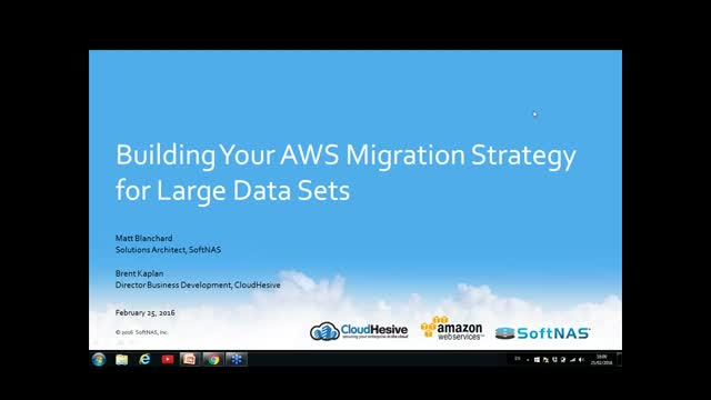 Building Your AWS Migration Strategy for Large Data Sets - NFS, CIFS/SMB, iSCSI
