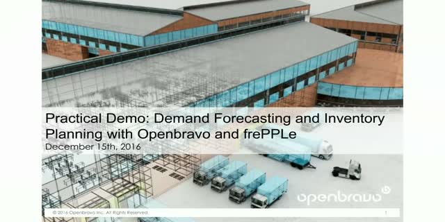 Demo for Retailers: Demand Forecasting & Inventory Planning-Openbravo & frePPLe