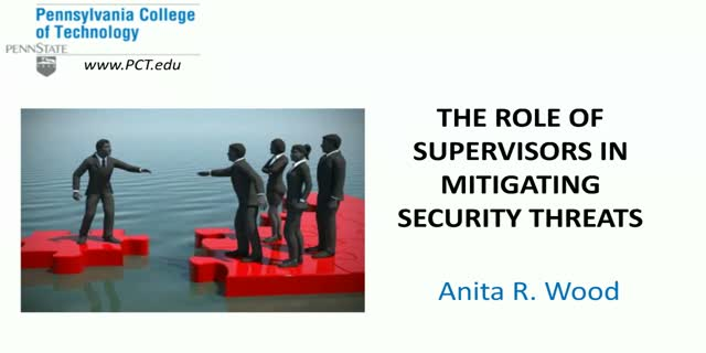 The Role of Supervisors in Mitigating  Security Threats