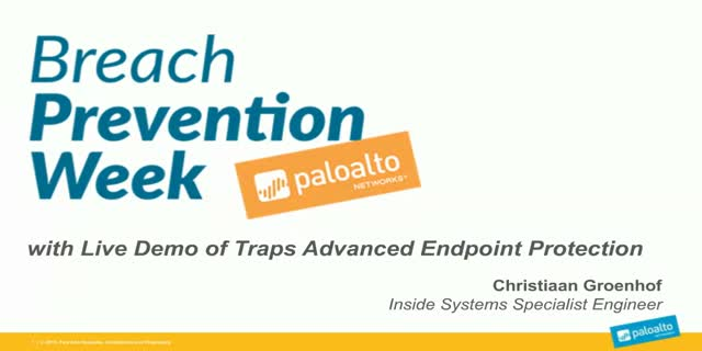 Live Demo: Advanced Endpoint Protection