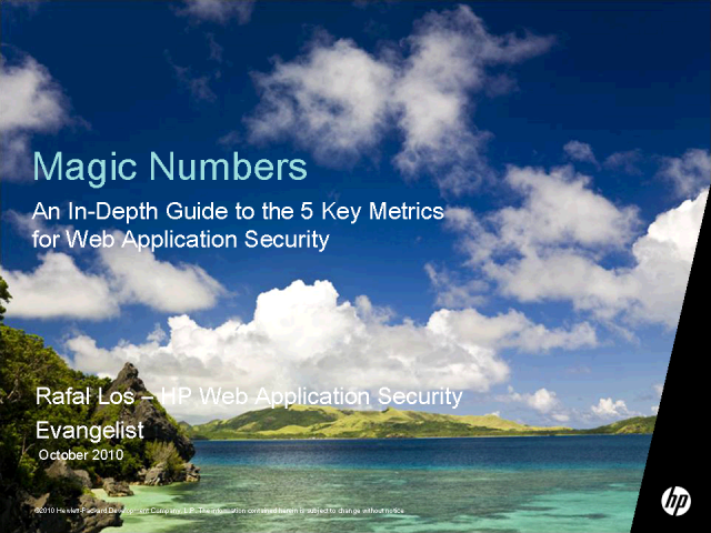 Magic Numbers - Guide to the 5 Key Metrics for Security