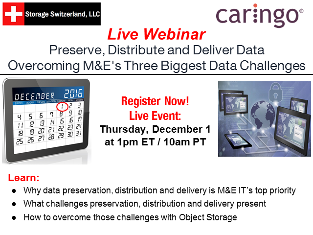 Preserve, Distribute and Deliver - M&E's Three Biggest Data Challenges