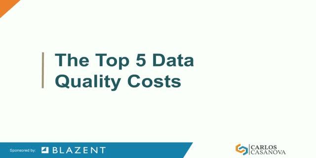 Top 5 Costs Associated with Poor Data Quality Webinar