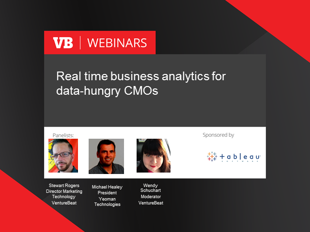 Real-time business analytics for data-hungry CMOs
