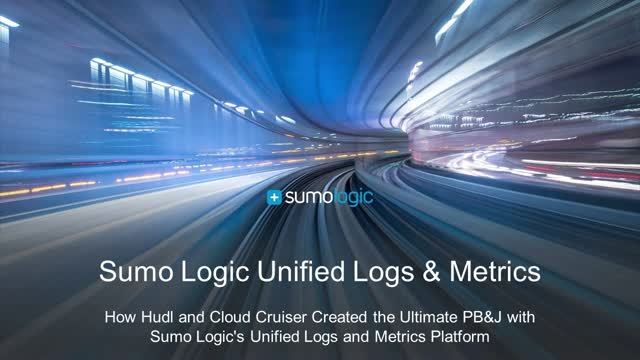 How Hudl and Cloud Cruiser Created the Ultimate PB&J with Sumo Logic
