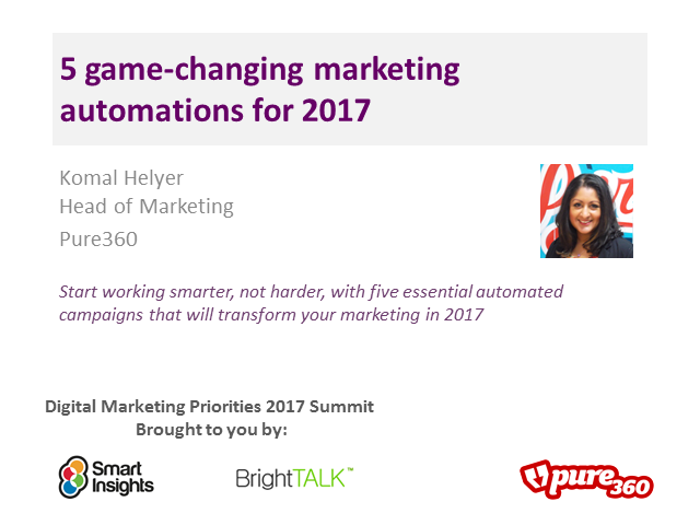 5 game-changing marketing automations for 2017