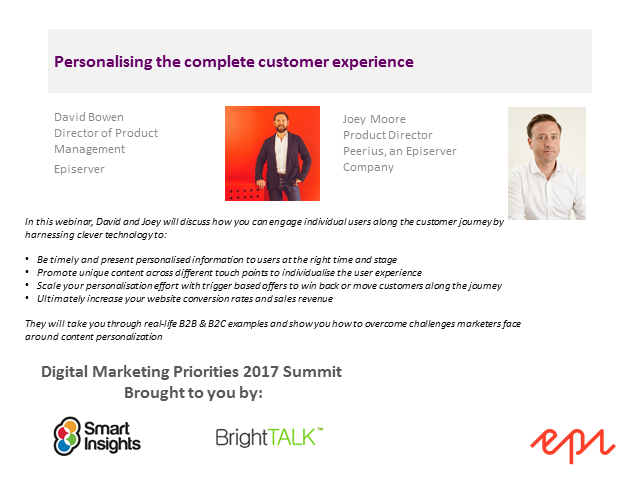 Personalising the complete customer experience