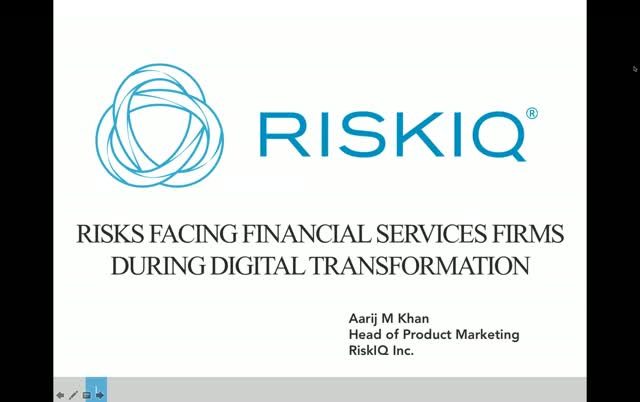 Risks Facing Financial Services During their digital Transformation