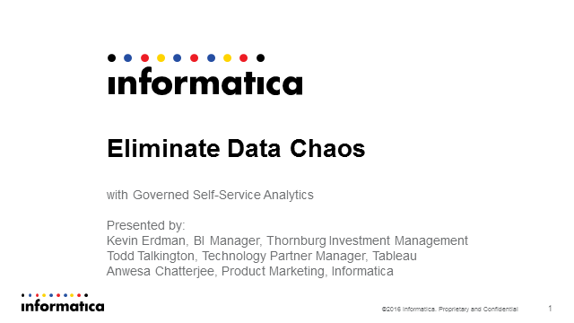 Eliminate Data Chaos with Governed Self-Service Analytics