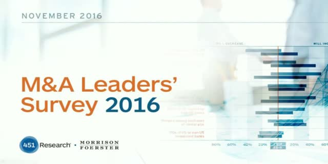 M&A Leaders' Survey Webinar