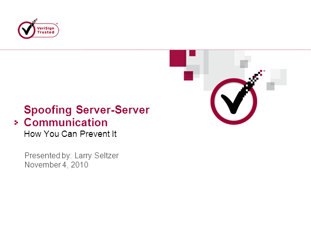 Spoofing Server-Server Communication: How You Can Prevent It