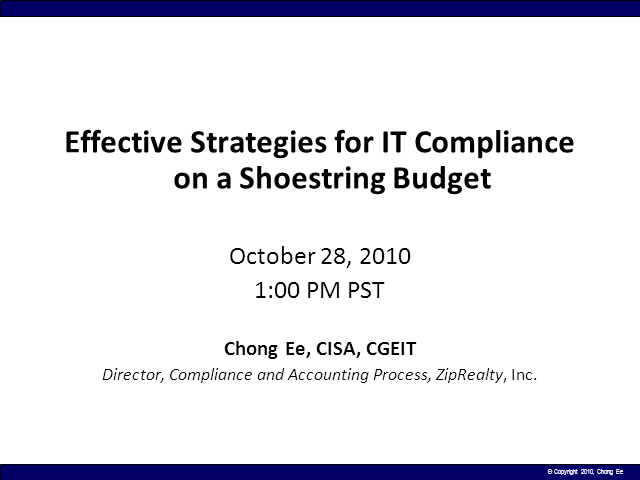 Effective Strategies for IT Compliance on a Shoestring Budget