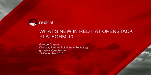 What's New In Red Hat's Cloud Infrastructure Stack