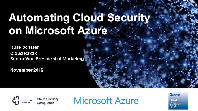 Raxak Protect Cloud Security for the Microsoft Azure Cloud