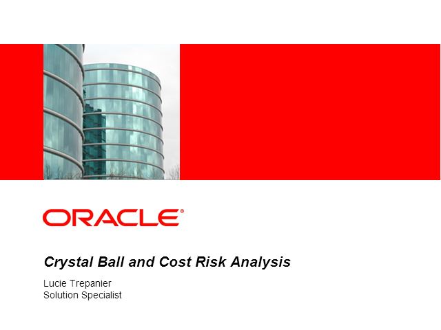 Crystal Ball and Cost Risk Analysis