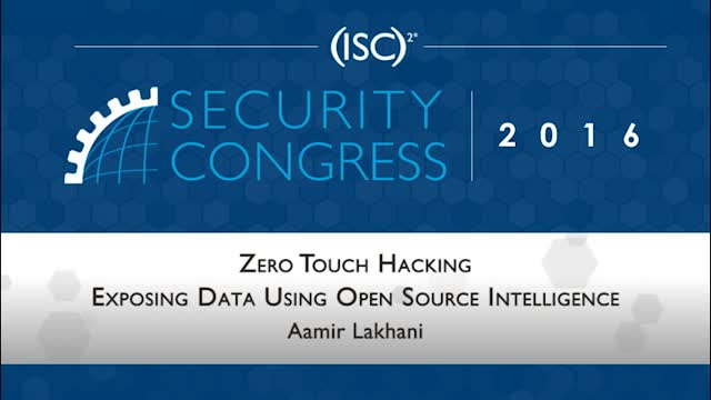 Zero Touch Hacking: Data Exposed Using Open Source Intelligence