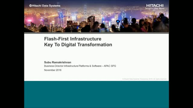 Flash First Infrastructure – Key To Digital Transformation