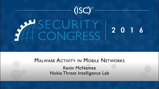 Malware Activity in Mobile Networks - an Insider's View