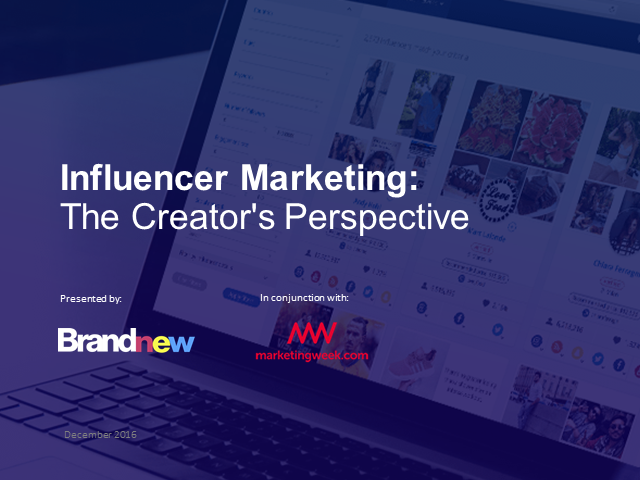 Influencer Marketing: The Creator's Perspective