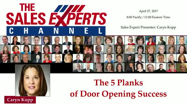 The 5 Planks of Door Opening Success