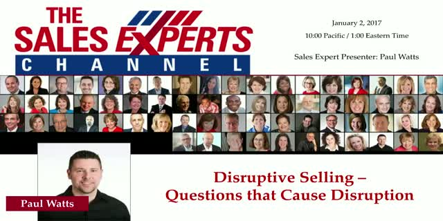 Disruptive Selling - Questions that Cause Disruption