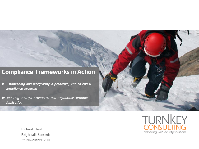 Compliance Frameworks in Action