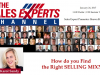 How do you Find the Right SELLING MIX?