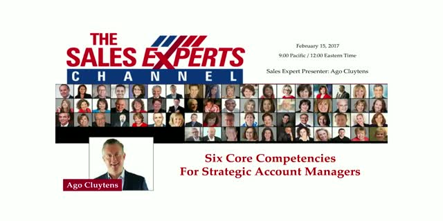 Six Core Competencies For Strategic Account Managers