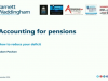 Accounting for pensions : how to reduce your deficit