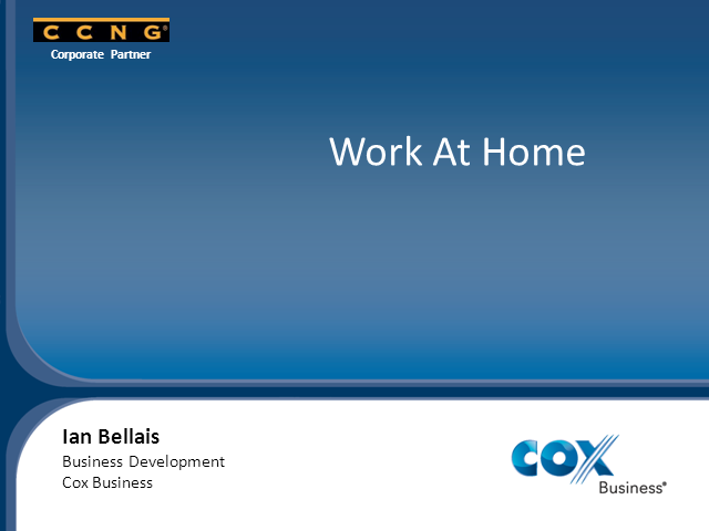 Introducing CCNG partner - Cox Business