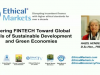 Steering FinTech towards Sustainable Development & Green Economies
