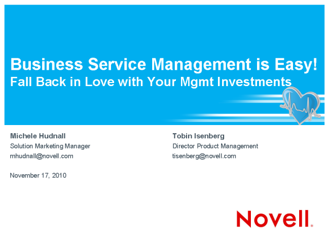 BSM Is Easy: Fall Back in Love with Your Management Investments!