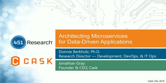 Architecting Microservices for Data-Driven Applications