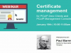 Certificate management for PCoIP Zero Clients and PCoIP Management Console