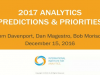 IIA's 2017 Analytics Predictions & Priorities