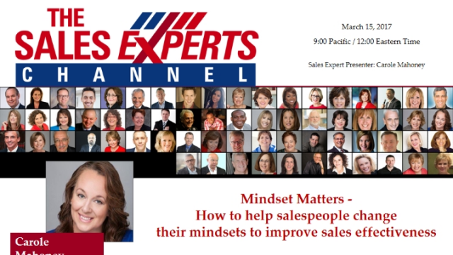 Mindset Matters- How to help salespeople change their mindsets to improve sales